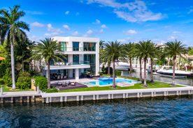 2665 castilla isle backyard from across water. Florida Luxurious Properties Luxury real estate south florida