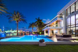 night shot of 2665 castilla isle florida luxurious properties