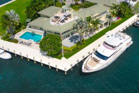Aerial of 2400 Laguna Drive   Luxury Waterfront Property Fort Lauderdale