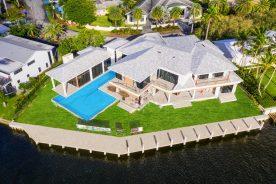 aerial of 60 Isla Bahia Drive   South Florida luxury real estate