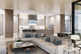 Interior family room and kitchen   luxury real estate in south florida   florida luxurious properties