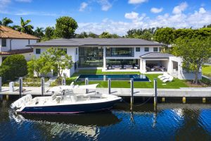 View of Bay colony real estate from the Intracoastal