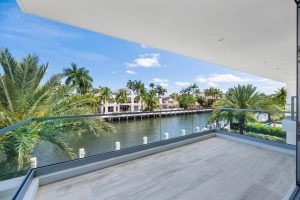 View of the Sunrise Intracoastal from a waterfront home for sale by Florida Luxurious Properties