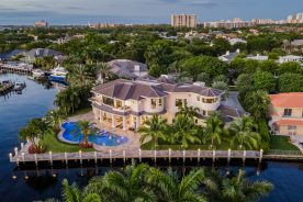 aerial overhead view of 30 bay colony lane   luxury real estate listing in south florida