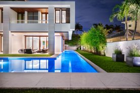 side of 10 pelican drive with pool | south florida luxury real estate