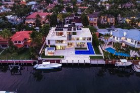 aerial shot of florida luxurious properties 10 pelican drive.